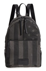 John Varvatos Collection Gibson Flag Print Backpack Grey Charcoal