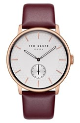 Ted Baker London James Leather Strap Watch 42Mm