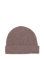 Johnstons Of Elgin Cashmere Ribbed Hat Brown