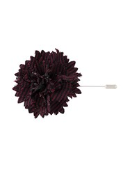 Lanvin Carnation Tie Pin Black