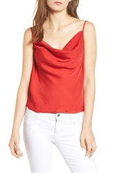 1.State Cowl Neck Camisole True Red