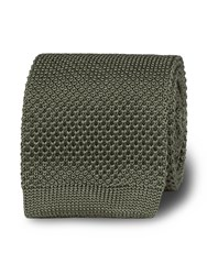 T.M.Lewin Knitted Slim Tie Green