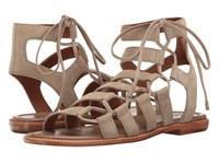 Frye Blair Side Ghillie Ash Soft Oiled Suede Women's Dress Sandals Gray