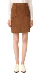 Bb Dakota Belfort Faux Suede Skirt Antelope