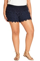City Chic Plus Size Women's Frolick Lace Shorts