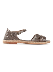 N.D.C. Made By Hand Strappy Flat Sandals Grey