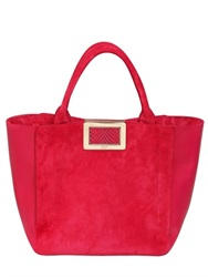 Roger Vivier Small Ines Suede And Leather Tote Bag