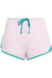 Wildfox Couture Woman French Cotton Blend Terry Shorts Baby Pink