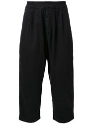Gold Herringbone Balloon Trousers Black