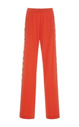 Emilio Pucci Tuxedo Stripe Wide Leg Pants Orange