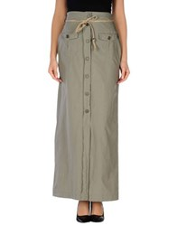 S.O.H.O New York Soho Skirts Long Skirts Women Military Green