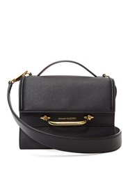 Alexander Mcqueen The Story Small Leather Bag Black Red
