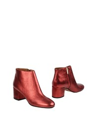 Bianca Di Ankle Boots Red