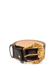 Versace Baroque Leather Belt Black