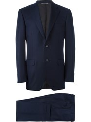 Canali Striped Two Piece Suit Blue