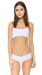 Top Secret Prop Bralette White