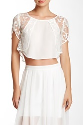 Stella And Jamie Suezy Petal Sleeve Blouse White