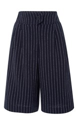 Cacharel Pinstripe Bermuda Shorts Navy