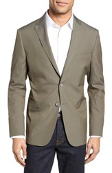 Hickey Freeman Classic Fit Stretch Cotton Blend Blazer Green