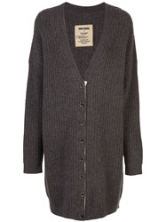 Uma Wang Ribbed Knit Loose Fit Cardigan 60