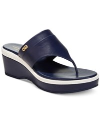 Cole Haan Cecily Grand Thong Sandals Women's Shoes Marine Blue