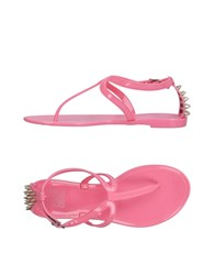 Colors Of California Toe Strap Sandals Pink
