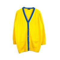 Luna And Curious Mustard Yellow Oversized Cardigan
