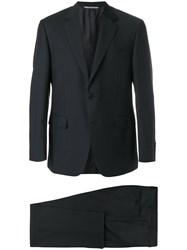Canali Slim Single Breasted Suit Blue