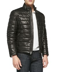 Andrew Marc New York Quilted Leather Jacket Black Women's