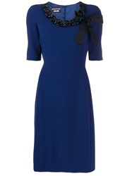 Boutique Moschino Chain Link Dress Blue