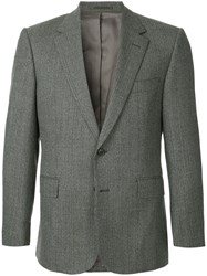 Gieves And Hawkes Formal Fitted Blazer Grey