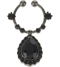 Givenchy Jewel Drop Nose Ring Black