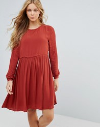 Pepe Jeans London Mews Dress Auburn Brown