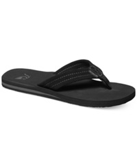 Quiksilver Carver Suede Thong Sandals Black