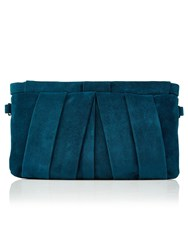 Jacques Vert Suede Clutch Bag Green