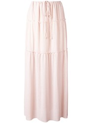See By Chloe Pleated Maxi Skirt Pink Purple