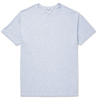 Derek Rose Ethan Melange Stretch Micro Modal T Shirt Blue