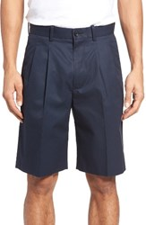 Nordstrom Men's Big And Tall Men's Shop Pleated Supima Cotton Shorts Navy Eclipse