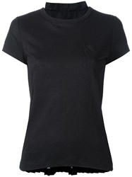 Sacai Tribal Lace Panelled T Shirt Black