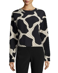 Dkny Long Sleeve Giraffe Print Top