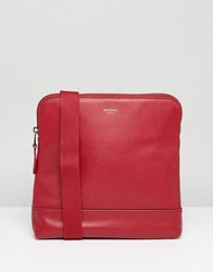 Knomo London Leather Acoss Body Bag Red