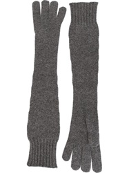 Dolce And Gabbana Long Gloves Grey
