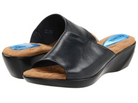 Fitzwell Astrology Navy Leather Women's Slide Shoes Blue