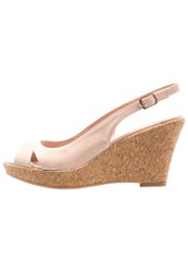 Dorothy Perkins Voxy Wedge Sandals Peach Nude