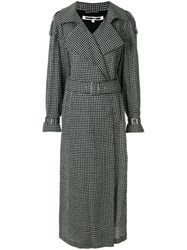 Mcq By Alexander Mcqueen Checked Printed Coat Black
