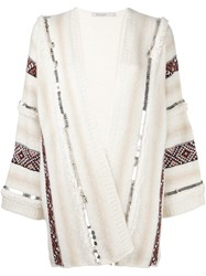 Mes Demoiselles 'Estha' Embellished Cardigan Nude And Neutrals