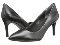 Rockport Total Motion 75Mm Pointy Toe Pump Black Smooth Leather High Heels