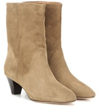 Isabel Marant Etoile Dyna Suede Boots Brown