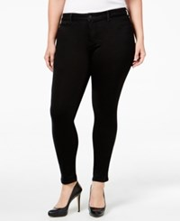 Jessica Simpson Trendy Plus Size Black Wash Skinny Jeans Od Black