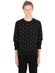 Diesel Stars Studded Cotton Sweatshirt